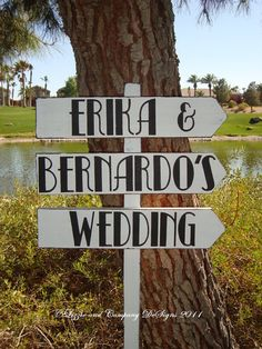 Directional Wedding Signs for entrance