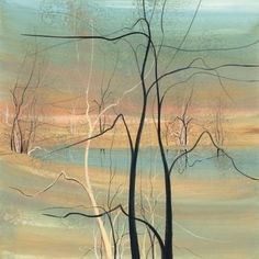 Trees at Twilight- P. Buckley Moss