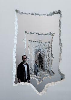 Daniel Arsham evokes knocked-through walls with SCAD installation