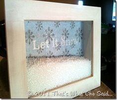 Holiday shadow boxes -- what a neat idea!