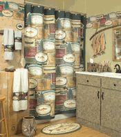 Exceptionnel Rather Be Fishing Bathroom Shower Accessories Lodge Cabin Bath Decor~  Braydens Bathroom