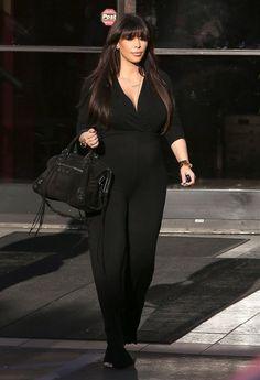 Pregnant Kim Kardashian Leaving A Production Office