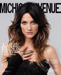 Ashlee Simpson. Good hairstyle for makeing a long narrow face appearing more balanced. Layers and volume on the sides.