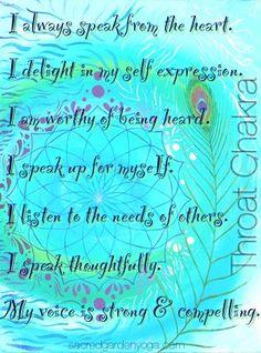 Throat Chakra- Vishuddha Affirmations