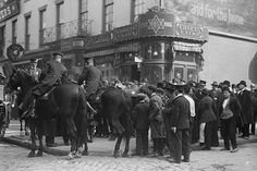 Mounted Police attempt to control Labor riots in NYC