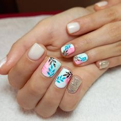 Best Nail Art Designs, Nail Designs Spring, Nail Polish Designs, Wow Nails, Cute Nails, Bride Nails, Dip Manicure, Mani Pedi, Oval Nails