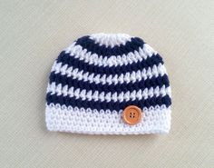 Baby boy hat Crochet newborn hat for Boy Newborn photo by JURGOSS