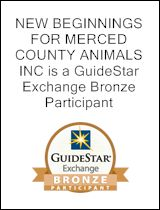 New Beginnings for Merced County Animals | Merced County animal adoption