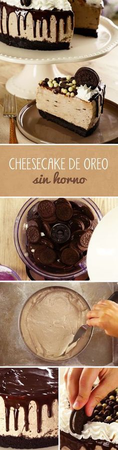 Chocolate Cheesecake Recipes, Easy Cheesecake Recipes, Cheesecake Cake, Oreo Cake, Cheesecake Bites, Pumpkin Cheesecake, Cake Chocolate, No Cook Desserts, Delicious Desserts