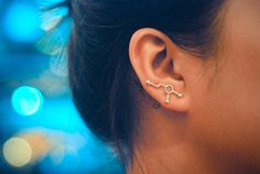Dopamine sterling silver ear pins by arajera on Etsy