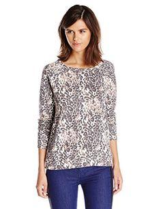 Joie Women's Annora Animal Print Sweatshirt, Porcelain/Charcoal, X-Small