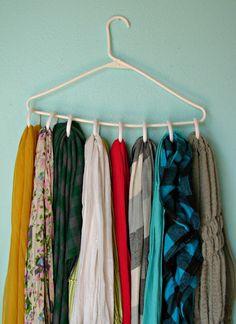 diy scarf hanger & 23 best Scarf Hangers images on Pinterest | Scarf hanger Scarf rack ...