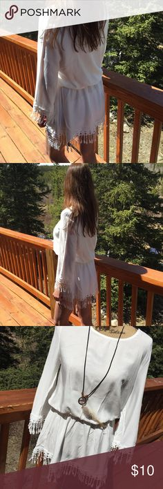 swim suit cover up long sleeve swim suit cover up. new and super cute can be worn as a short mini dress too Colorado Chick Swim Coverups