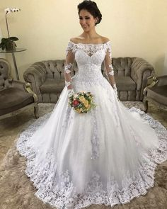 White Wedding Dresses A Line Bateau Strapless Sleeveless Sweep Train Applique Sequins Lace 2019 Beach Boho Wedding Bridal Gowns Used Wedding Dresses, Princess Wedding Dresses, Wedding Dress Styles, Wedding Attire, Boho Wedding, Bridal Dresses, Couture Dresses, Wedding Gowns, Mermaid Wedding