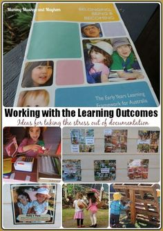 Activity planning strategies and ideas for early years educators using the EYLF outcomes. Mummy Musings and Mayhem Inquiry Based Learning, Early Learning, Early Education, Early Childhood Education, Eylf Outcomes, Reggio Documentation, Family Day Care, Curriculum Planning, Portfolio