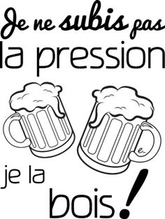 No pression ! Image Fun, French Quotes, Silhouette Portrait, Some Words, Positive Affirmations, The Funny, Sentences, Funny Tshirts, Decir No