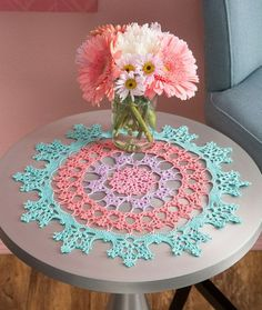 Wisteria Doily Free Crochet Pattern from Aunt Lydia's Crochet Thread