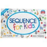 Sequence for kids is probably our most favorite game over the years for my grandkids and me - we started playing it when they were 3 and it continues to occasionally pull their interest as they turn 10 and 12, along with Trouble, the rest of the Sequence games we have, and more.