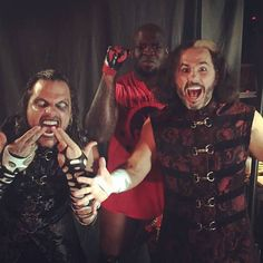 'Broken' Jeff Hardy, Moose and 'Broken' Matt Hardy