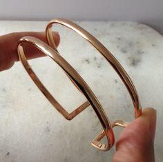 Rose Gold wire Cuff Cuff Jewelry, Cuff Bracelets, Jewellery, Gold Wire, Rose Gold, Jewels, Schmuck, Jewelry Shop, Jewlery