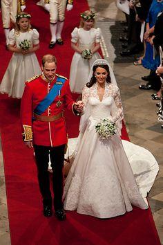 Kate Middleton & Prince William on their Wedding Day