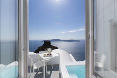The view from the Honeymoon Suite at Grace Santorini.