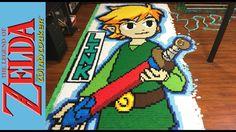 Legend of Zelda: Wind Waker Dominoes Run Made With 78175 Dominoes