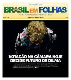 #Capadodia #Notícias #BomDia  Edição 1666 - Domingo, 17 de abril de 2016  Votação na Câmara hoje decide futuro de Dilma  Pouco mais de quatro meses após o presidente da Câmara, Eduardo Cunha (PMDB-RJ), ter aceitado o pedido de impeachment da oposição contra a presidente Dilma Rousseff (PT), o processo passará pela votação dos 513 deputados federais em sessão marcada para a tarde deste domingo (17) na Câmara dos Deputados. O UOL transmitirá a votação ao vivo…
