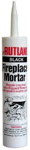 Rutland Fireplace Mortar Cartridge, 10.3-Ounce, Black, 2015 Amazon Top Rated Adhesive Caulk #Home