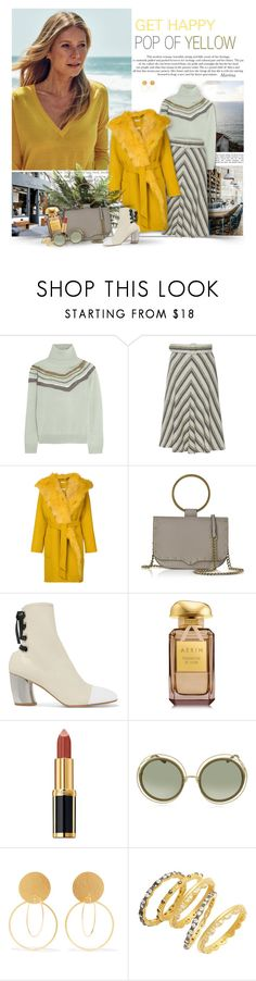 """Pop Of Yellow"" by thewondersoffashion ❤ liked on Polyvore featuring Reyes, Raoul, Barba, P.A.R.O.S.H., Rebecca Minkoff, Proenza Schouler, AERIN, Balmain, Chloé and Annie Costello Brown"