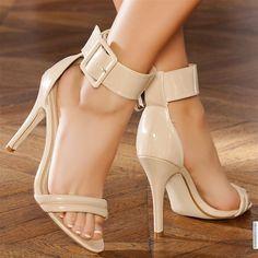 Sandales women beige heels 11 cm size 41, online buy Sandales woman MODATOI