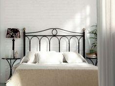 Tête de lit Rosa en fer forgé. Meuble design pour la chambre. Le Monde du Lit