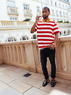 Big Sean enjoys a sunny day in Frankfurt #bigsean #gucci #frankfurt