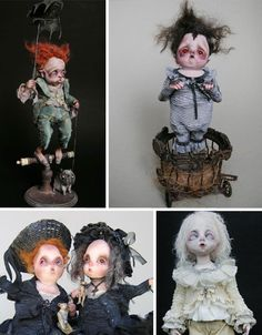 Not all dolls are for children – as evidenced by the incredibly bizarre and amazing art dolls, puppets and sculpture of these 15 artists. Creepy Halloween Props, Scary Clowns, Ugly Dolls, Creepy Dolls, Creepy Hand, Gothic Dolls, Dollhouse Dolls, Hello Dolly, Soft Dolls