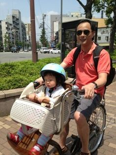 The Family from Singapore Successfully Test-drove a Mama Bicycle in Kyoto !