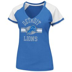 NFL Detroit Lions V-Neck Tee, Small