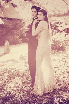 TVD photoshoot: Damon Salvatore and Elena Gilbert