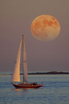 Moon  sailboat
