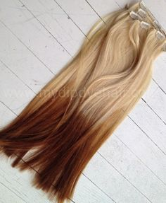 Ombre Hair Extensions/DipDye/Reverse Ombre/Blonde/Cooper/Dip Dye | ombrehair - Accessories on ArtFire