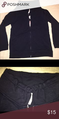 Crewcuts 6/7 zip up terry cloth jacket Navy Blue Crewcuts terry cloth zip up J. Crew Jackets & Coats