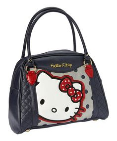 Take a look at this Navy Hello Kitty Face Tote by Loungefly on #zulily today!