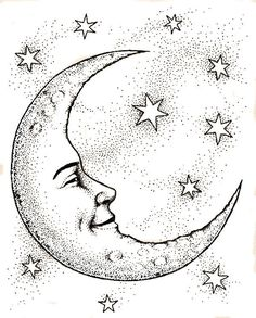 Crescent Moon Face & Stars Coloring Web page . Tattoos Infinity, Sun Tattoos, Tatoos, Tattoos Skull, Sun Moon Stars, Sun And Stars, Moon Moon, Cresent Moon Drawing, Cresent Moon Tattoo
