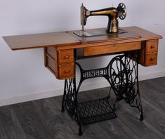 Buy online, view images and see past prices for OAK SINGER SEWING TABLE. Invaluable is the world's largest marketplace for art, antiques, and collectibles. Singer Sewing Tables, Vintage Sewing Machines, Auction, Cabinet, Ideas, Furniture, Sewing, Clothes Stand, Singer Sewing Machines
