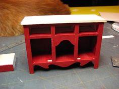 Muebles casa de muñecas en miniatura - Tutoriales | minis 1 pulgada: buffet de país