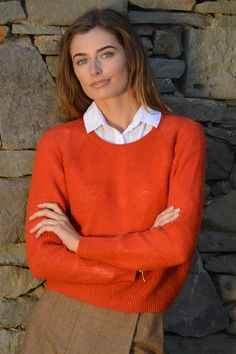 Happy Kinda Life - This handy jumper has a versatile and flattering round neck. In a classic fit, this simple jumper is perfect for every day, whether at the office or for casual wear. Knitted in our luxury mohair blend, a stylish addition to your wardrobe.