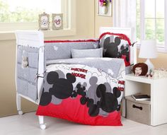 Baby Bedding Crib Cot Sets. 9 Piece Mickey Mouse Theme. RRP $150