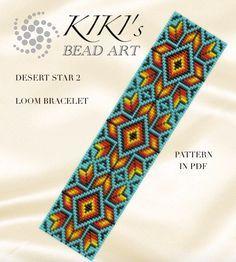 Bead loom pattern - Desert star 2 - LOOM bracelet pattern in PDF - instant download