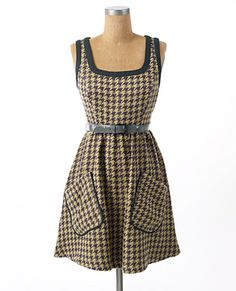 Cute dress...with a white collared shirt and tights with boots...yes please!