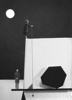 Gilbert Garcin  Géométrie conjugale (d'après Paul Klee)