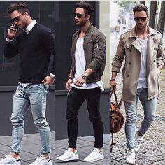 Preppy casual jeans and trench coat Mens Fashion @Dapper_Outfits…